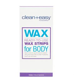 Ready-To-Use Wax Strips for Body 12 Ct.